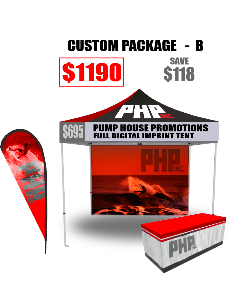 10x10, commercial grade, tent, full, digital, imprint, Full, Color, free, table, cover, package, deal, Save, Money, Promotional, Products, teardrop flyer, banner,
