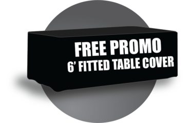 Free, Promotion, Table Cover, 6 feet, Your Logo Here