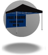 Free, Promotions, 10x10, Tent, Backwall
